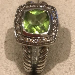 Authentic David Yurman Ring w/peridot & Diamonds